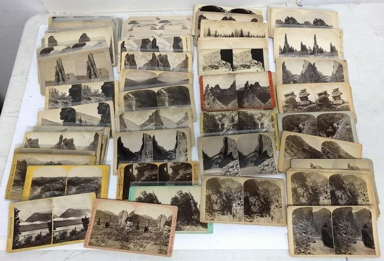 Fine group of 69 Western Topographical Stereoviews.