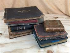 Lot of 7 19th century historic photo albums containing