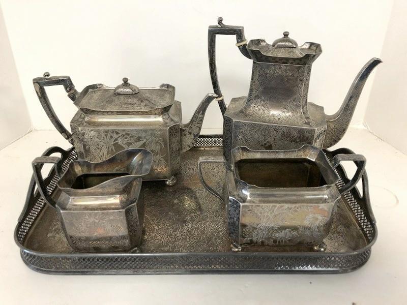 WILLIAM GIBSON & CO. BELFAST FANCY STERLING SILVER TEA