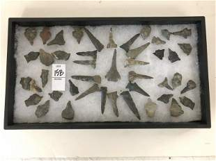 LOT OF ARROWHEADS FROM 80 YEAR ESTATE COLLECTION, AS