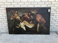 OLD MASTER (?) DEPOSITION OF CHRIST, O/C, FOUND IN