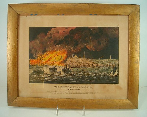 CURRIER & IVES THE GREAT FIRE AT BOSTON, SMALL FOLIO, F