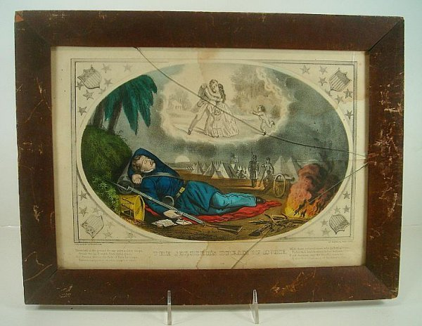CURRIER & IVES THE SOLDIERS DREAM OF HOME, SMALL FOLIO,