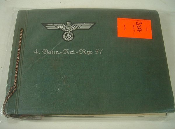 GERMAN WWII PHOTO ALBUM, WITH MANY SNAPSHOTS OF OFFICER