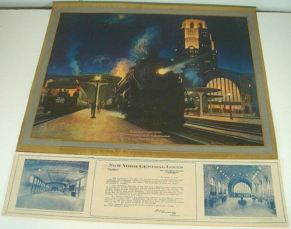 POSTER-1930 NEW YORK CENTRAL FULL CALENDAR, VERY GOOD C