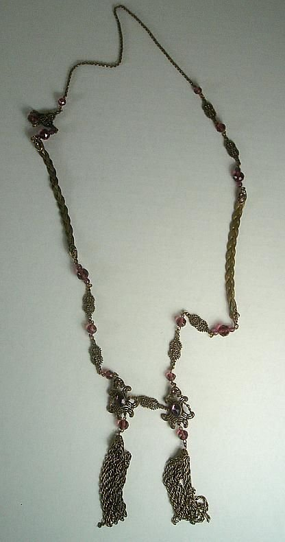 HERE IS A WONDERFUL VICTORIAN ERA LONG NECKLACE, QUALIT