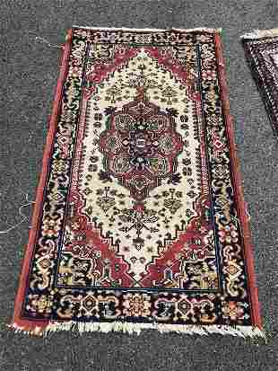 HANDMADE NON ANTIQUE ORIENTAL SCATTER RUG, SOME