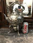 INCREDIBLE BAILEY & CO. STERLING REPOUSSE TEAPOT ON