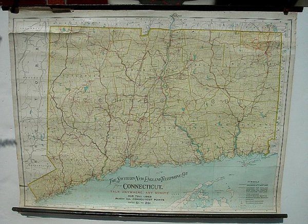 4: SOUTHERN NE TELEPHONE CO MAP OF CT 1904 BY THE J N M