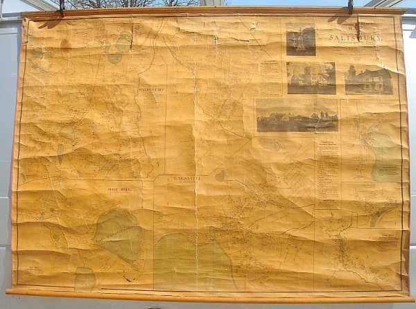 6: 1899 ROLL DOWN MAP SALISBURY LITCHFIELD CT BY THE I