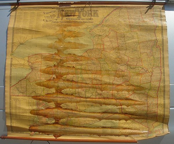 9: SCARBOROUGHS NY 1903 ROLL DOWN MAP NEW RAILROAD, POS