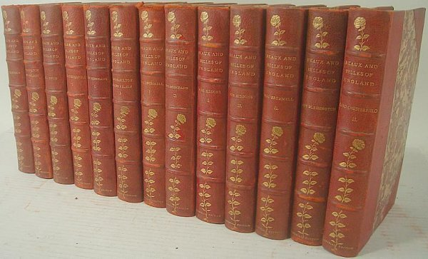 21: SET OF 13 BEAUX AND BELLES OF ENGLAND, LIMITED EDIT