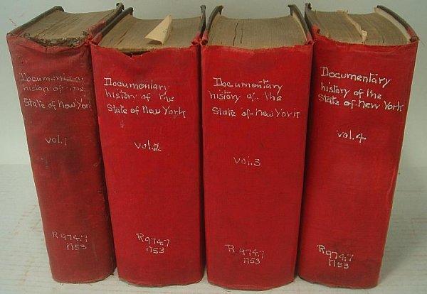 22: DOCUMENTARY HISTORY STATE OF NY 1819, 4 VOLS, BY E