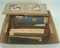 117D LARGE LOT OLDER FAMILY PHOTO ALBUMS