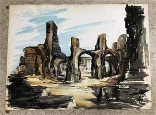 ALTHEA SPALDING ODELL (1921-2001)  WATERCOLOR POSSIBLY