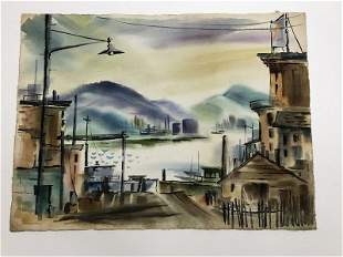 ALTHEA SPALDING ODELL (1921-2001) WATERCOLOR, POSSIBLY