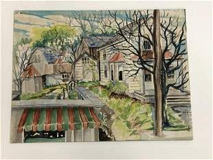 ALTHEA SPALDING ODELL (1921-2001) WATERCOLOR LANDSCAPE