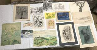 (15) PCS. ARTWORK BY ALTHEA SPALDING ODELL, SMALL