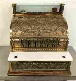 BRASS NATIONAL CASH REGISTER, FROM LOCAL ESTATE, WAS
