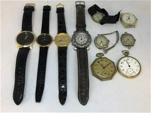 ESTATE LOT WRIST AND POCKET WATCHES, INCLUDES MOVADO