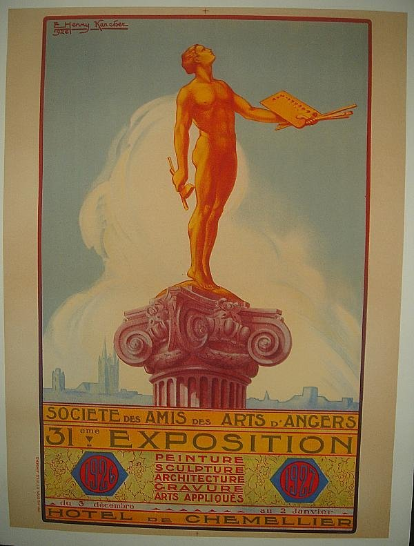 3: POSTER-FRENCH 1926 EXPOSITION POSTER, HOTEL DE CHEME