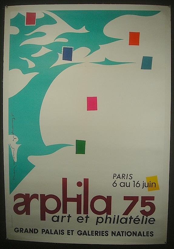 8: POSTER-FRENCH ART POSTER, GRAND PALAIS ET GALERIES N