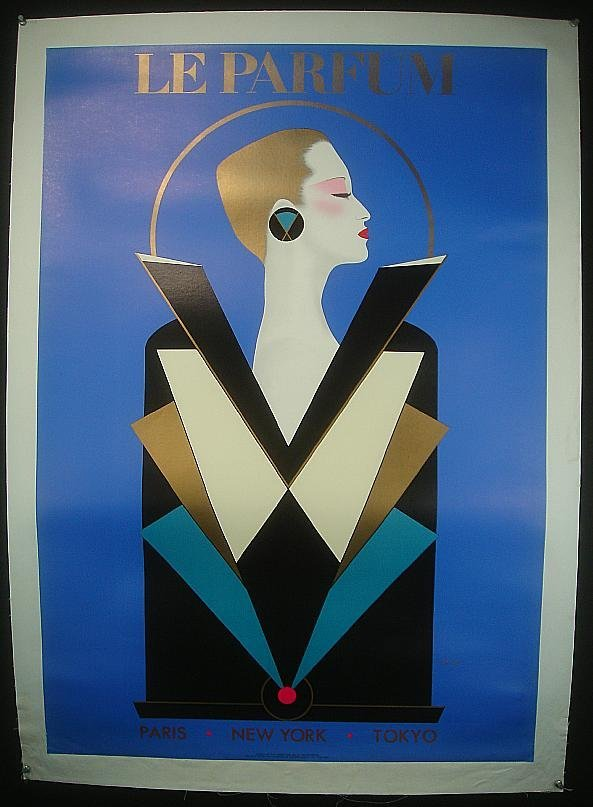 11: POSTER-LE PARFUM FRENCH POSTER, LINEN BACKED, ARTIS