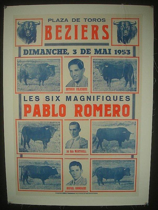 "14: POSTER-SPANISH BULL FIGHTING POSTER, MEASURES 31"" X"