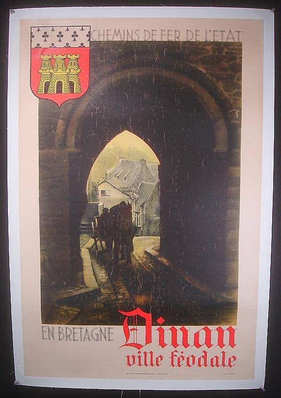 16: POSTER-FRENCH DINAN VILLE FEODALE POSTER, PHOTO LE