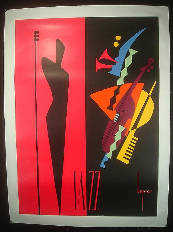 18: POSTER- JAZZ POSTER, ARTIST IS LEPAS, FRENCH 1990,