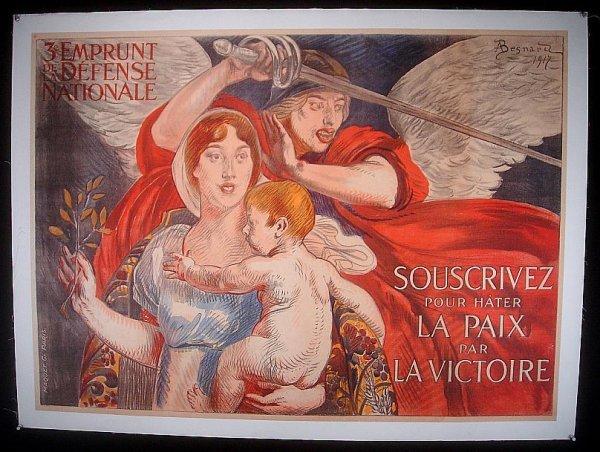 20: POSTER-FRENCH WWI POSTER, SOUSCRIVEZ POUR HATER LA