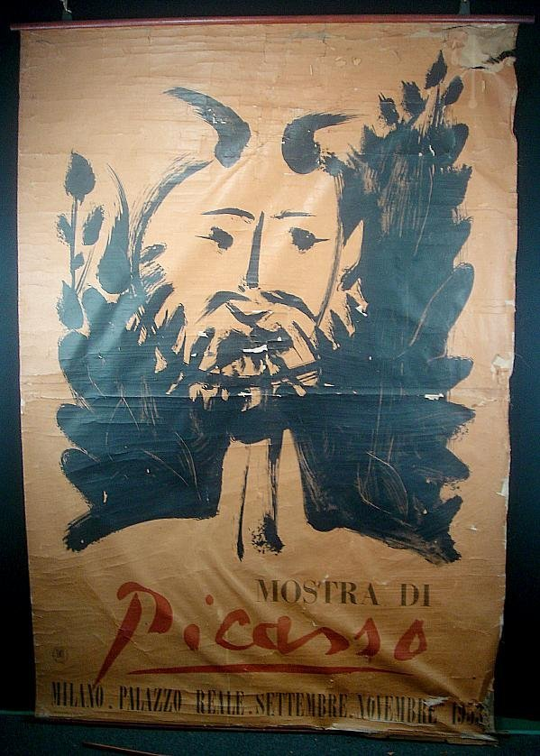 36: POSTER-LARGE PICASSO 1953 POSTER, MOSTRA DI PICASSO