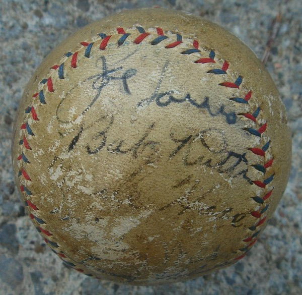 69: SIGNED BABE RUTH AND OTHER SPORTS CELEBRITIES BASEB