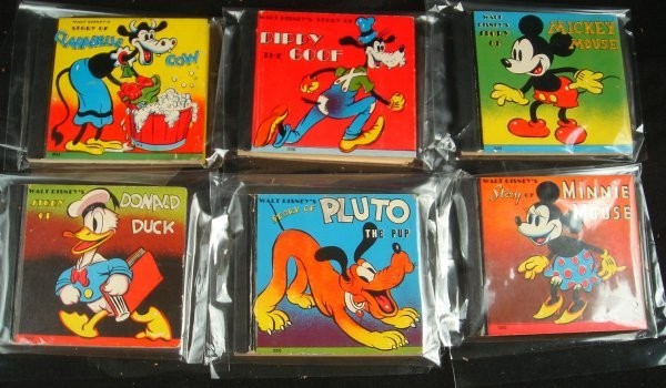 77: 6 1938 DISNEY BOOKS IN VERY GOOD CONDITION, TITLED