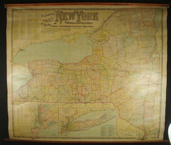 10A: 1903 N Y ROLLDOWN MAP, SCARBOROUGH'S NEW RAILROAD