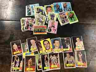 1960'S HOCKEY & BASKETBALL CARD LOT FROM LOCAL ESTATE,