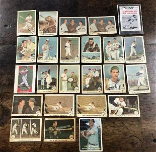 (24) TED WILLIAMS BASEBALL CARDS, MOST FROM THE