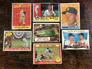 (7) MICKEY MANTLE BASEBALL CARDS, FROM LOCAL ESTATE, AS