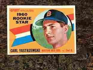 CARL YASTRMSKI TOPPS 1960 ROOKIE CARD, NICE ESTATE