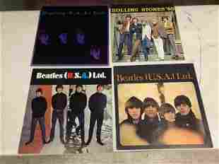 3 BEATLES AND 1 ROLLING STONES SOUVENIR BOOKLETS