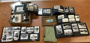 BIG LOT ESTATE PHOTOGRAPHS, INCL. (7) ALBUMS & BOX OF