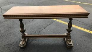 "NICE WALNUT LIBRARY TABLE, CIRCA 1920'S, MEASURES 53"" X"