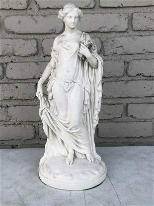 EARLY PARIAN STATUE OF WOMAN FROM OLDER ULSTER COUNTY