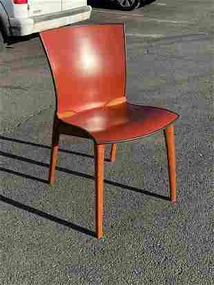 CASSINA P-3 CONTEMPORARY LEATHER SINGLE CHAIR, IN GOOD
