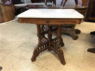 EASTLAKE VICTORIAN MARBLETOP TABLE, GOOD CONDITION, TOP