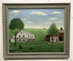 ROY DANFIELD PARKER (1882-1974) O/B FARM SCENE TITLED