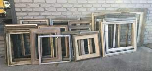 (30) WONDERFUL LOT OF OLDER PICTURE FRAMES, FROM
