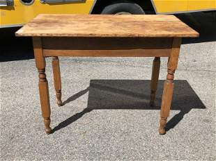 """PINE COUNTRY WORK TABLE W/ NEW YORK LEG, MEASURES 40"""" X"""