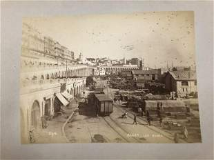 1880'S PHOTO ALBUM ALGERIA, ALGER, CASBAH, WITH ARABS,