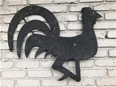 FOLK ART SHEET METAL ROOSTER WEATHERVANE, IN ORIGINAL